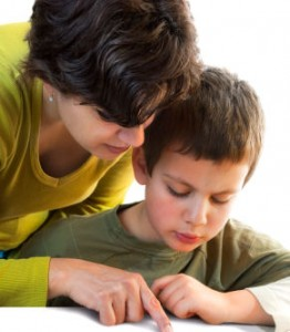 Parent Helping Child with Math