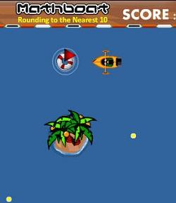 MathBoat Math Rounding Game