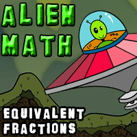 Alien Math Equivalent Fractions