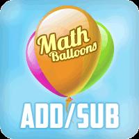 Math Balloons Addition Subtraction