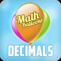 Math Balloons Decimals