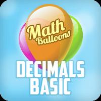 Math Balloons Decimals Basic