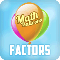Math Balloons Factors