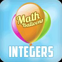 Math Balloons Integers