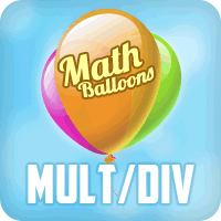 Math Balloons Multiplication Division