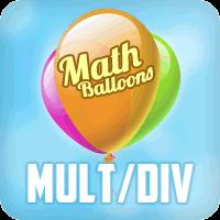 Math Balloons Multiplication Division