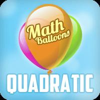 Math Balloons Quadratic