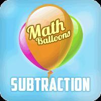 Math Balloons Subtraction