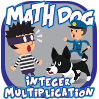 Math Dog Integer Multiplication icon