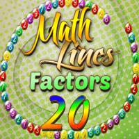 Math Lines Factors 20