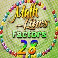 Math Lines Factors 28