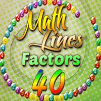 Math Lines Factors 40