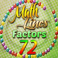 Math Lines Factors 72