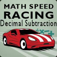 Math Speed Racing Decimal Subtraction