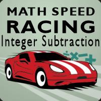 Math Speed Racing Integer Subtraction