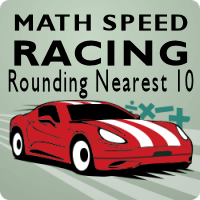 Math Speed Racing Rounding Nearest 10 icon