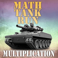 Math Tank Run multiplication