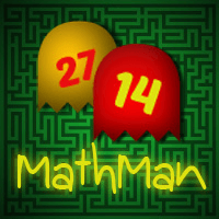 MathMan Math Games Series | PacMan like math Games | Cool Math Games