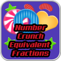 Number Crunch Equivalent Fractions Game icon