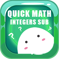Quick Math Integers Subtraction Icon
