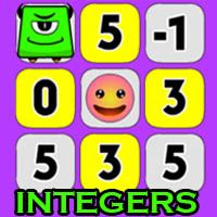 Smiley Math Integers Icon