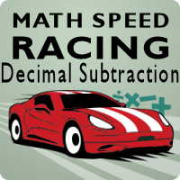 Math Speed Racing Decimal Subtraction
