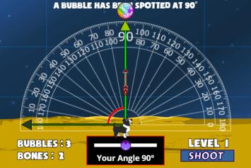 MathPup Angles Bubble Shoot