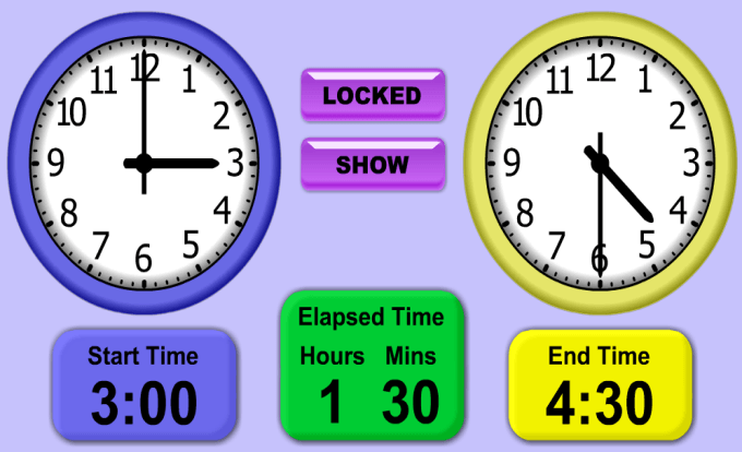 Mathnook teaching tools elapsed time clocks elapsed time clock screenshot ibookread Download