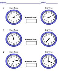 elapsed time worksheet pic - Elapsed Time Worksheet